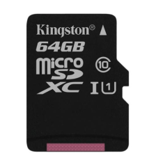 купить Kingston 64 GB microSDHC Class 10 UHS-I + SD Adapter SDC10G2/64GB в Украине