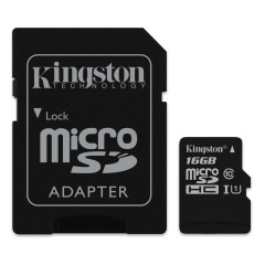 купити Kingston 16 GB microSDHC Class 10 UHS-I + SD Adapter SDC10G2/16GB в Україні
